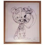 Image of Original framed HUGE Scare-Bear drawing!