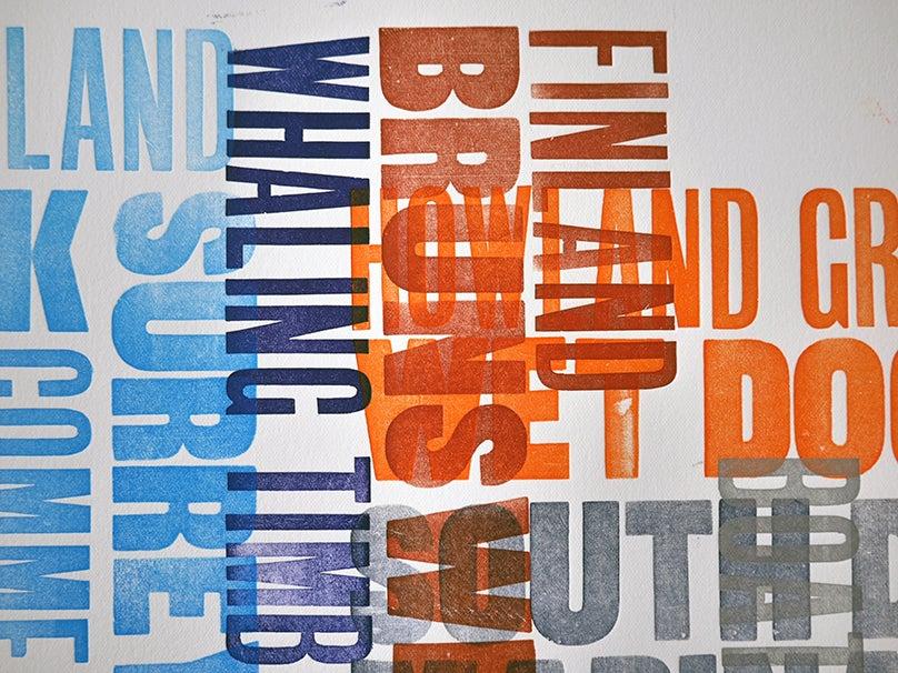 Image of SE16 Typographic Letterpress Print