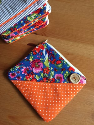 Image of Floral + Stripes square zip