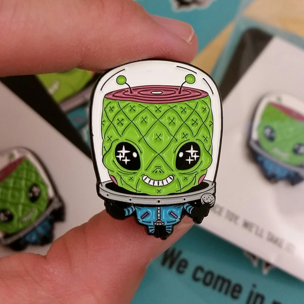 Image of Marsham alien soft enamel pin