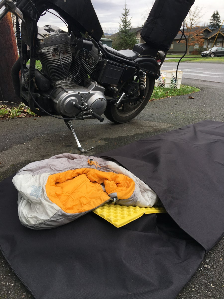 Image of Sissy bar Bag and Dirtbag Bed Roll