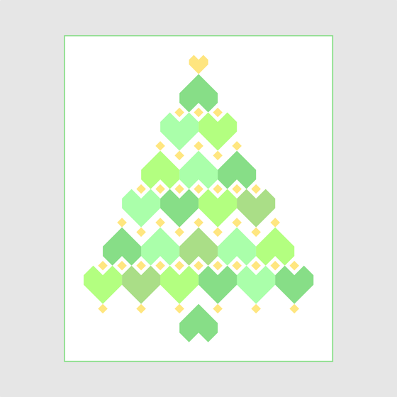 Image of Christmas Hearts - Christmas Tree PDF Quilt Pattern