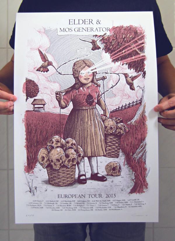 Image of Elder/Mos Generator Tour Poster 2015