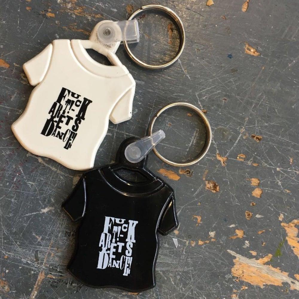 Image of F'kartlet's Dance T-Shirt Key Ring.