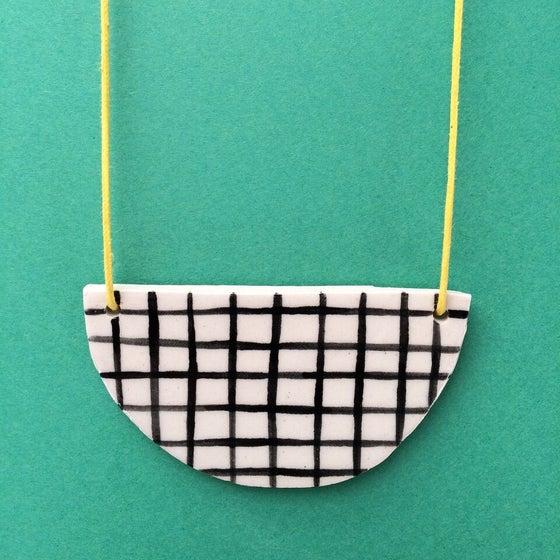 Image of Slab Necklace - Grid