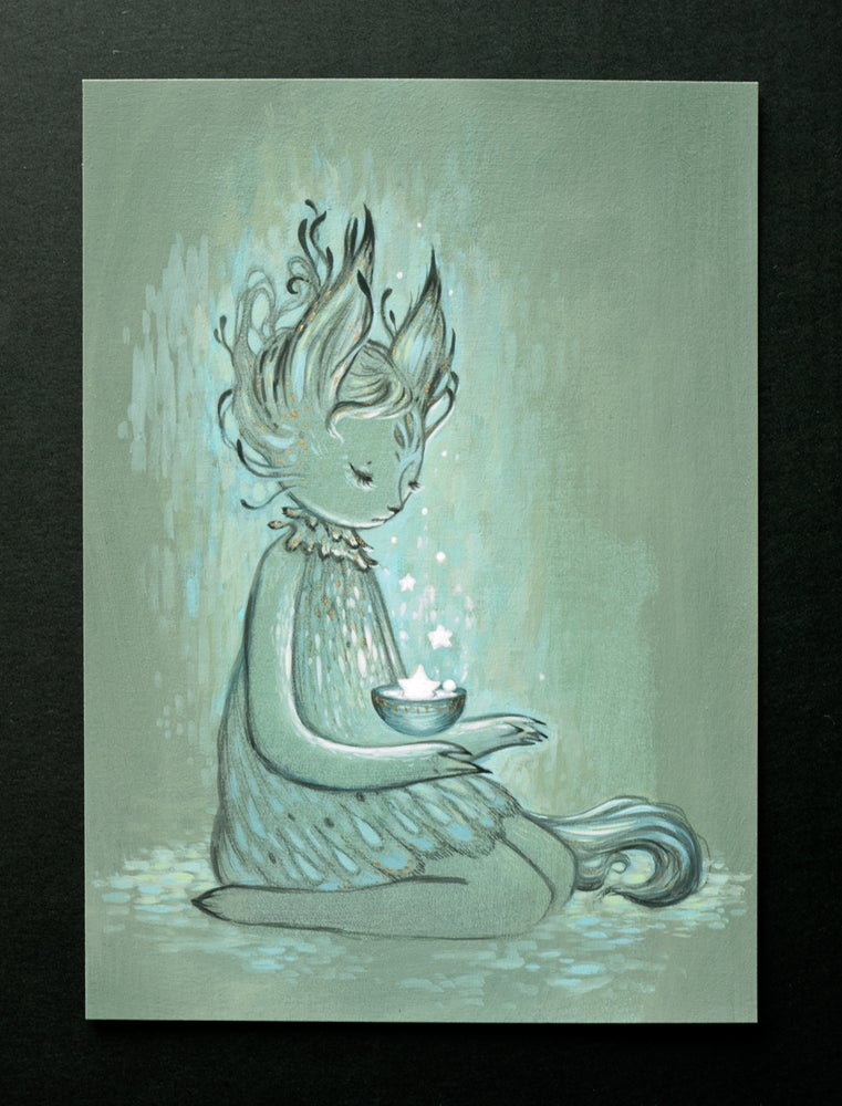 Image of starry light ~ gouache on paper