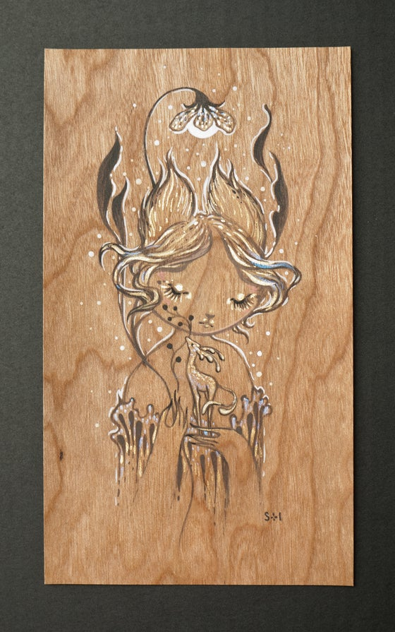 Image of wood drawing IV