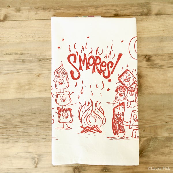 Image of S'mores Tea Towel