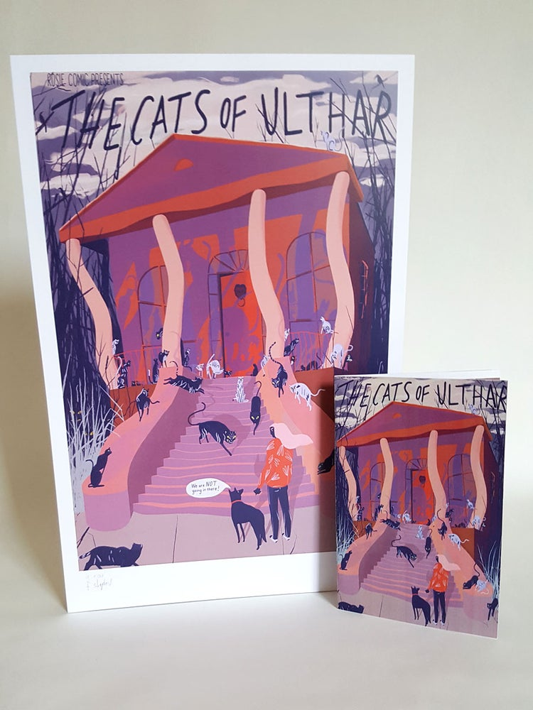 Image of Signed & Numbered Cats of Ulthar Poster and Zine