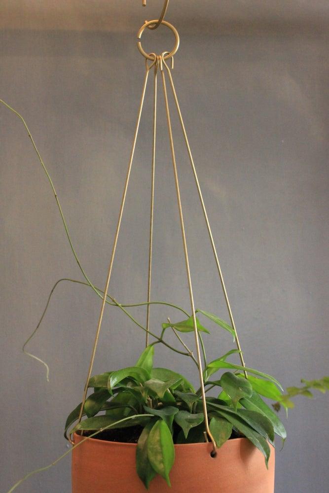Image of Brass Basket Hanger