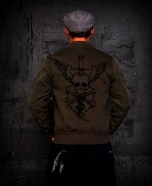 Image of NEW! MIR145 [Flying Skull] Bomber Sweatshirt / Jacket