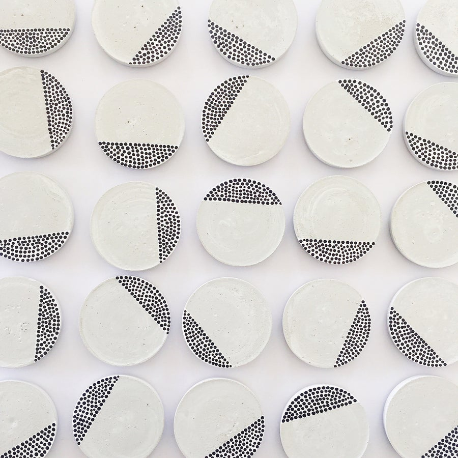 Image of Concrete Coasters   Tiny Dots (set of 4)
