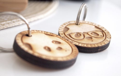 Image of Wood Panda Keychain