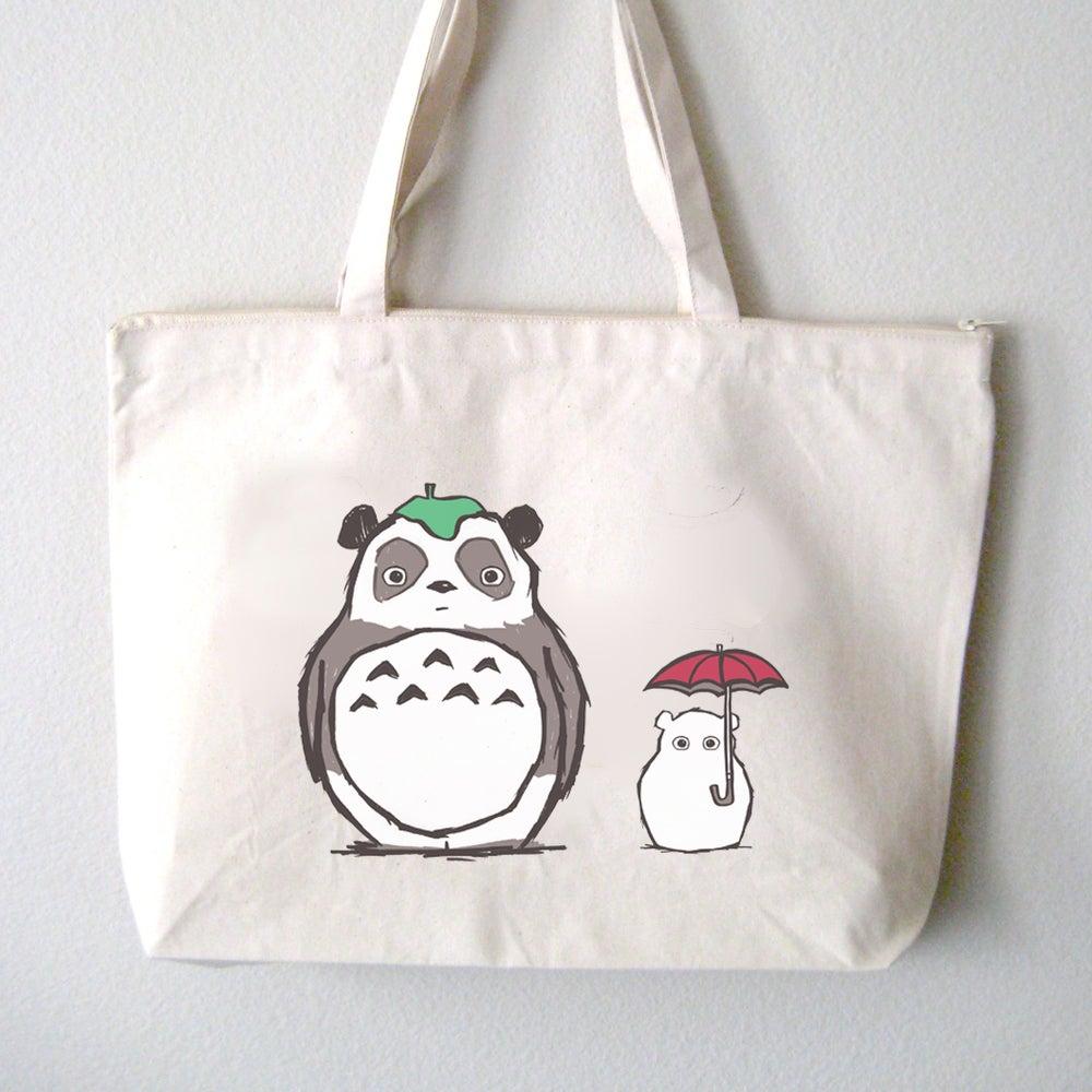 """Image of """"Totoro Panda"""" Tote Bag"""