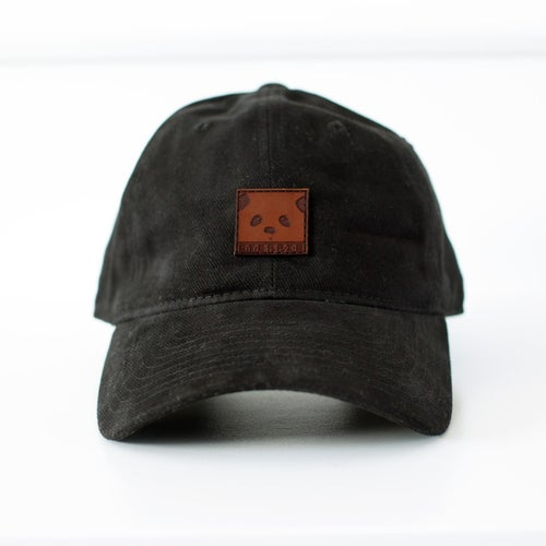 """Image of """"Panda Face"""" Dad Hat (Black)"""