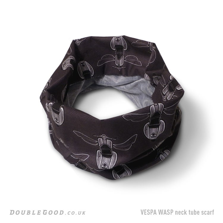 Image of Vespa Wasp Neck Tube Scarf - Grey