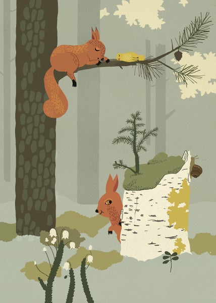 Image of   Forrest Poster - Squirell