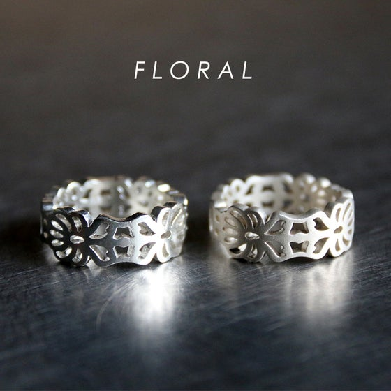 Image of 3D printed rings silver