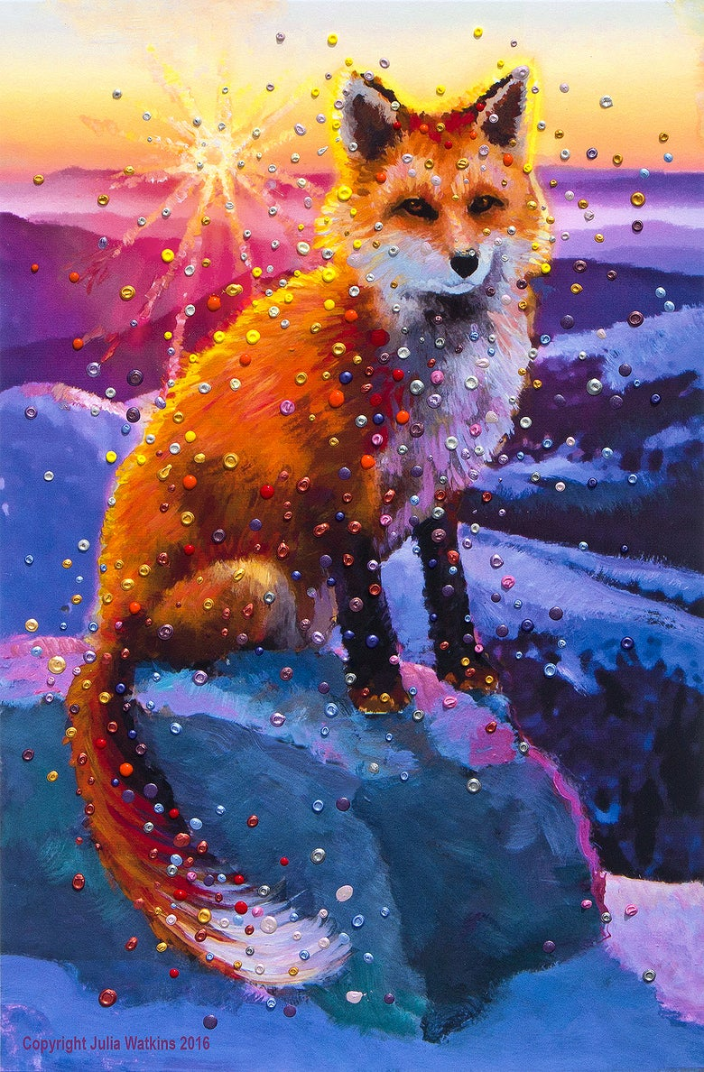 Image of Winter Fox Energy Paintng - Gicleee Print