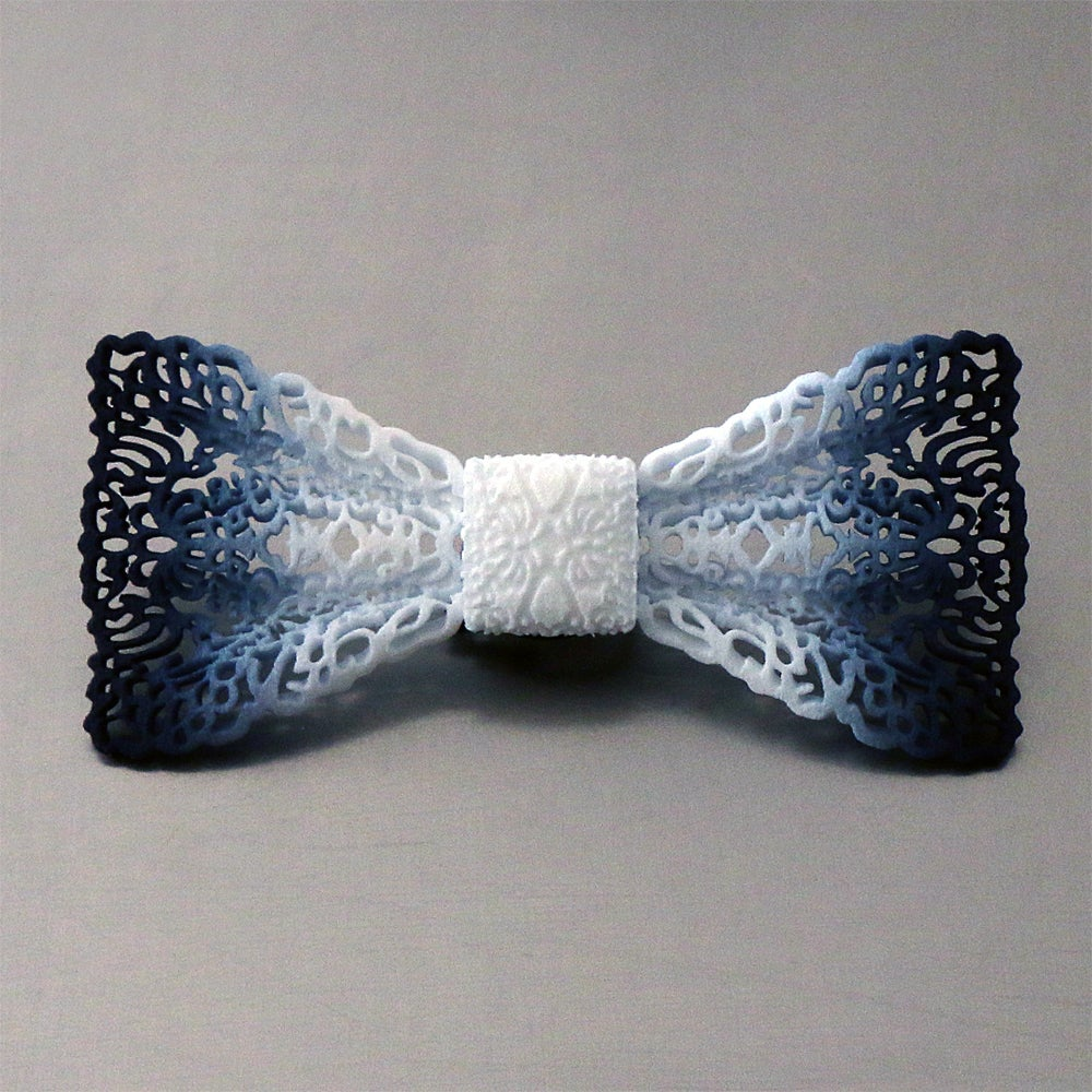 Image of 3D printed bow tie LACE
