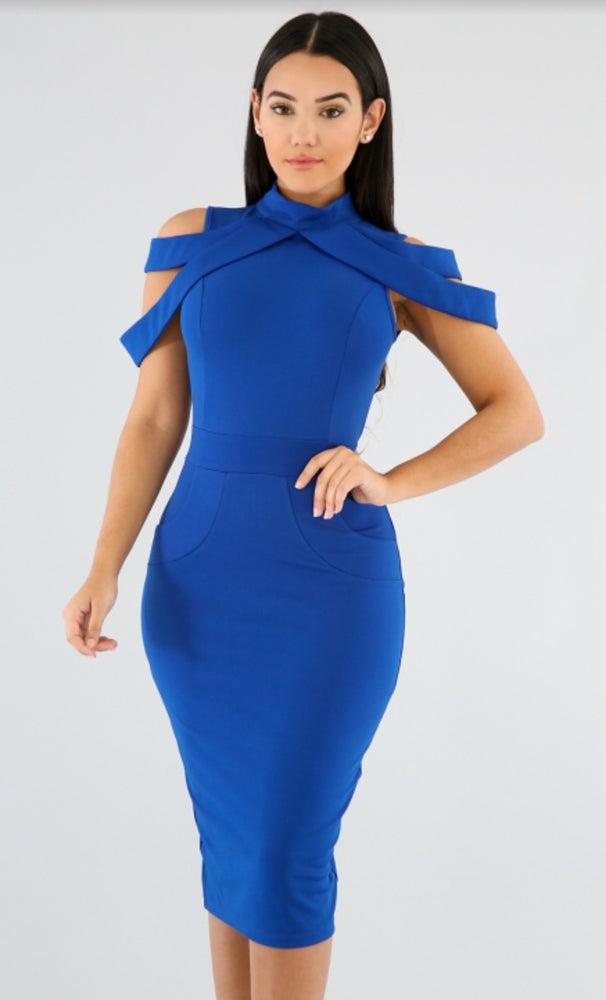 Image of  Strap Me Down Drape Dress #GT16688