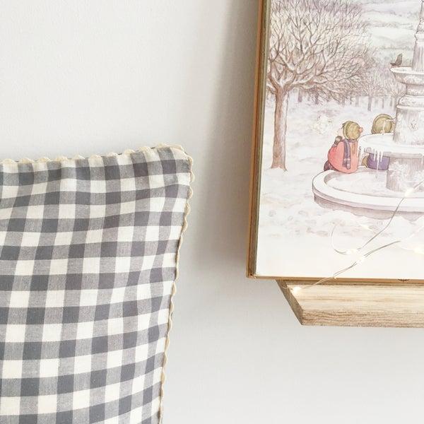 Image of Linge de lit Vichy gris - Croquet blanc -40%, 57.00€ au lieu de