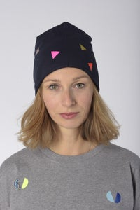 Image of beanie triangle navy