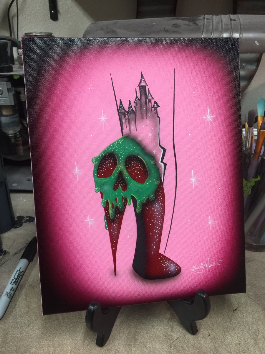 Image of Pink Poison Apple Painting