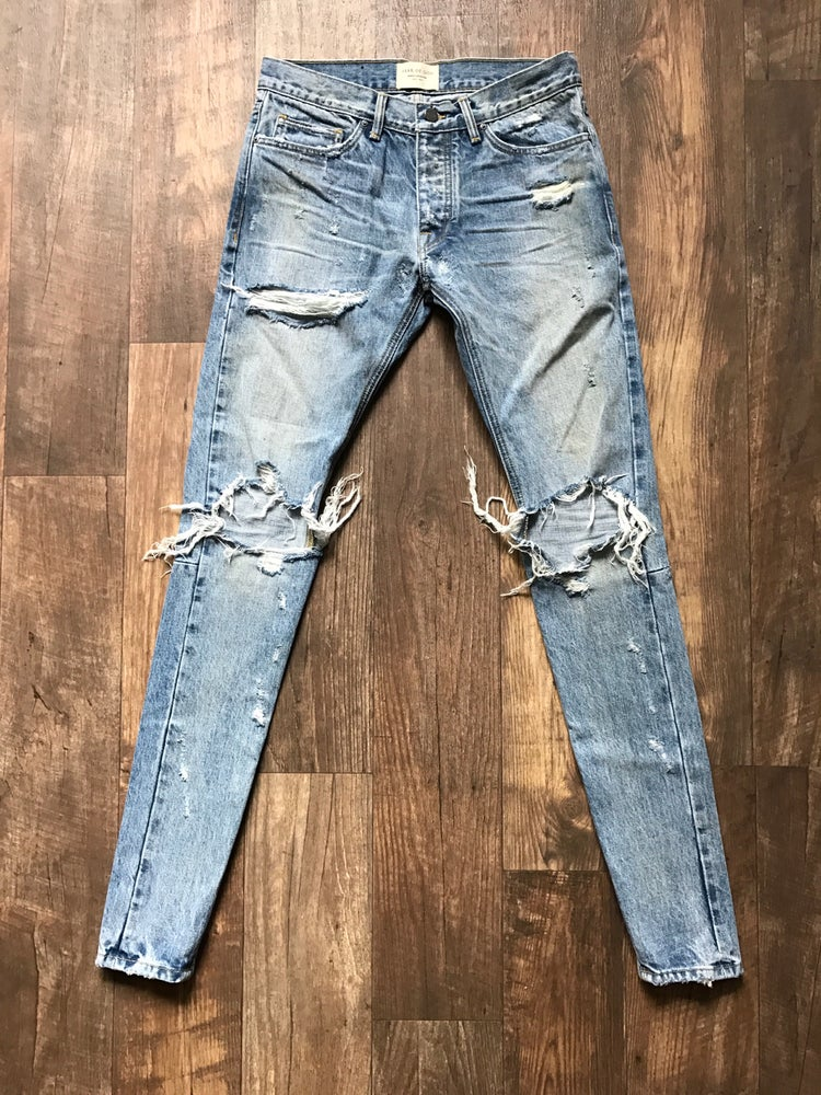 Image of Fear Of God SELVEDGE DENIM VINTAGE INDIGO JEAN Fourth Collection