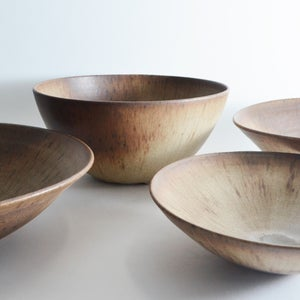Image of earthy deep serving bowl