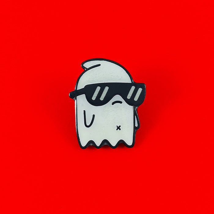 Image of Cool Ghost | Enamel Pin