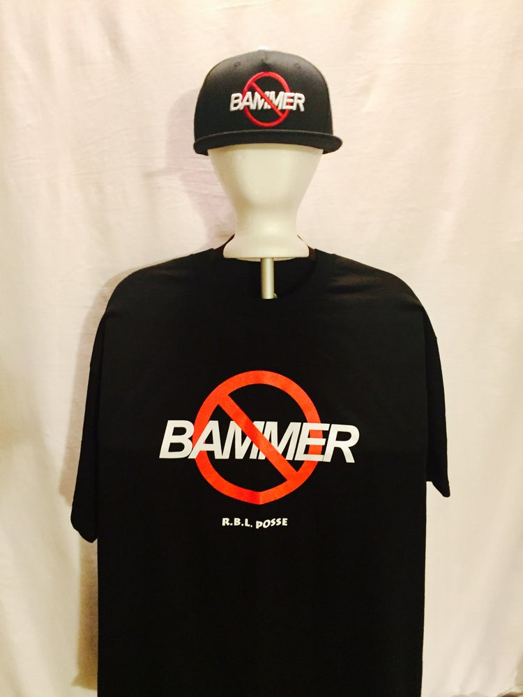 "Image of ""NO BAMMER"" TEE (BLACK)"