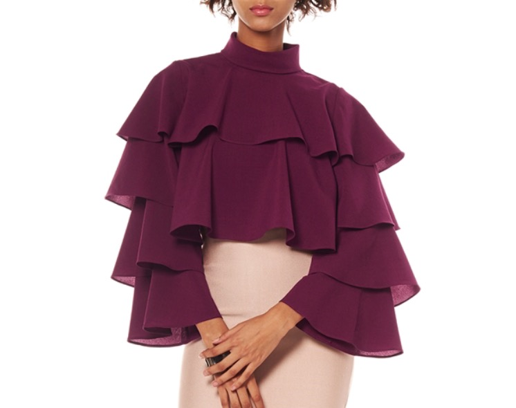 Image of Ruffle crop top