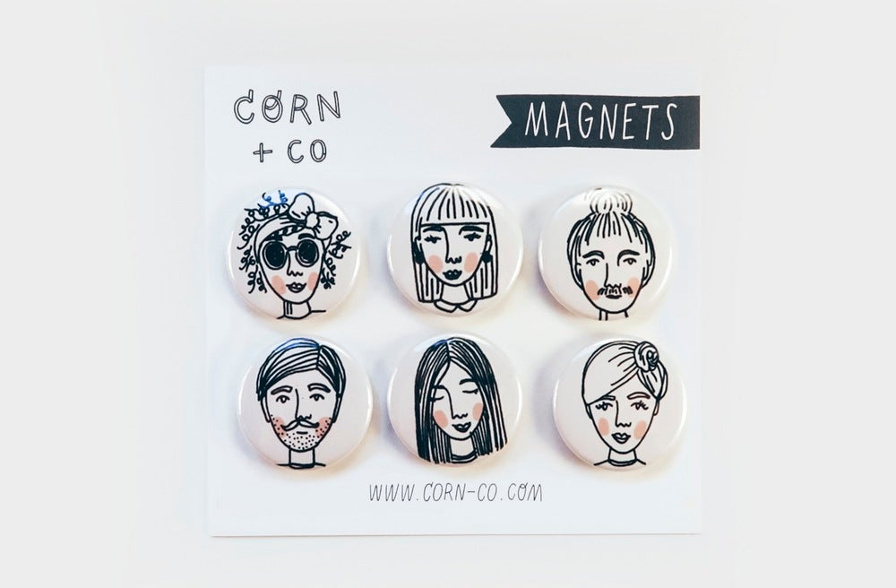 Image of People Magnet Set