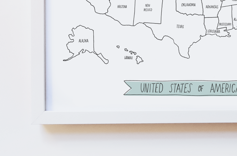 Image of Map of the United States