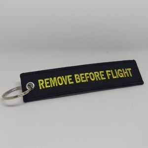 Image of Black & Gold - Remove Before Flight Tag