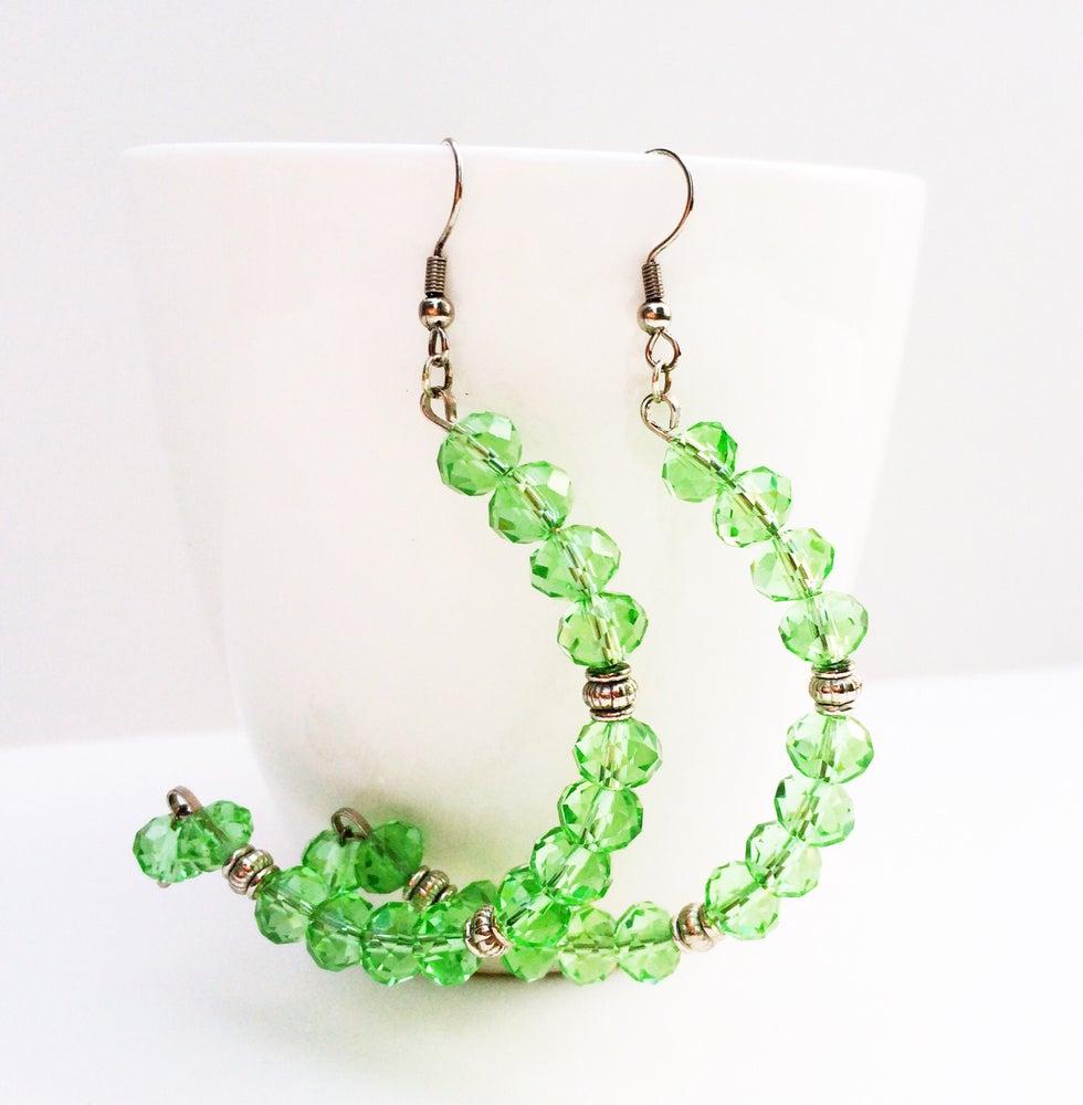 Image of Translucent Crystal Half Hoop Earrings