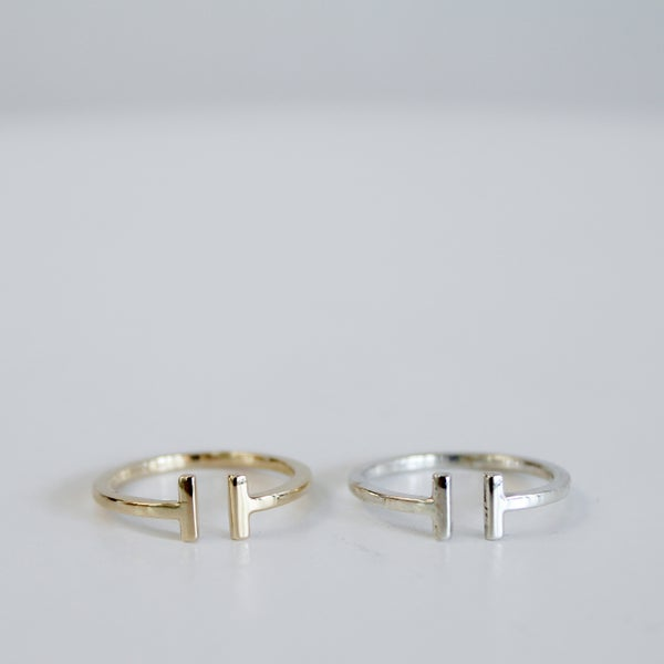 Image of T Bar Ring - Minimalist Range