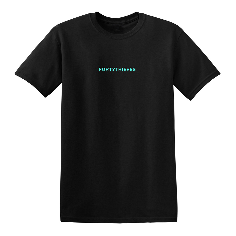 Image of STAPLE T-SHIRT (BLACK/TEAL)