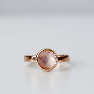 Image of Rose Cut Rose Quartz Ring