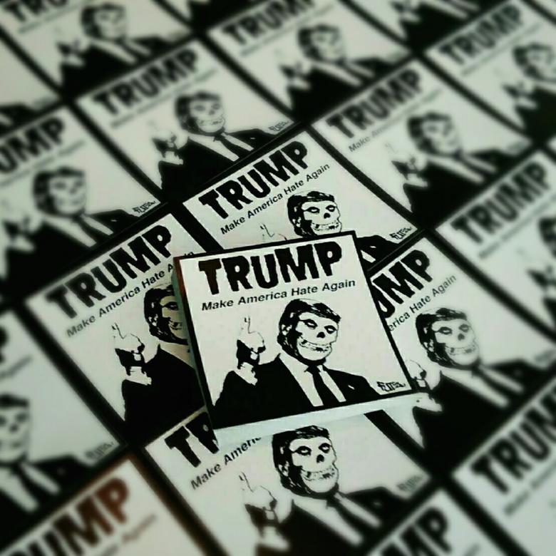 Image of Trump: Make America Hate Again Vinyl Stickers (10)