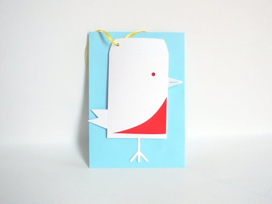 Image of 4 x Robin Envelope Gift Tag
