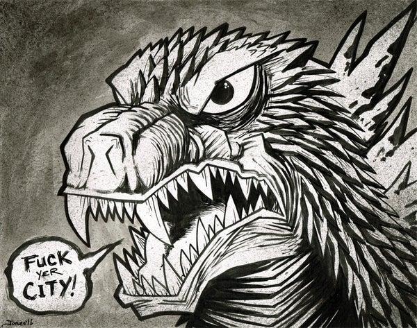 Image of 'Godzilla' Original Painting