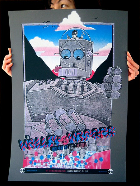 Image of Valley of the Vapors screen printed poster