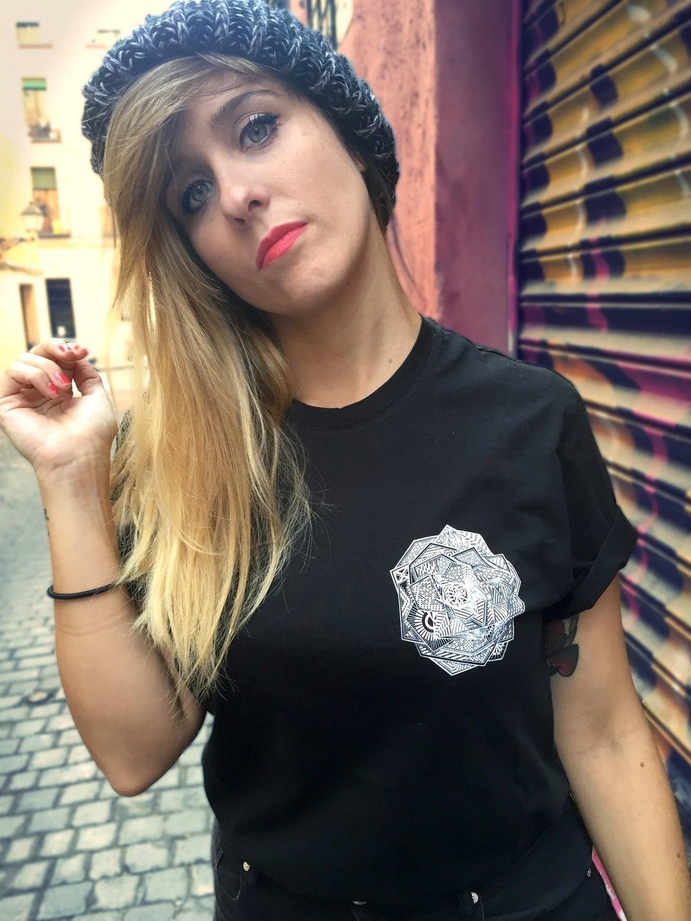 Image of Camiseta unisex negra ROSA