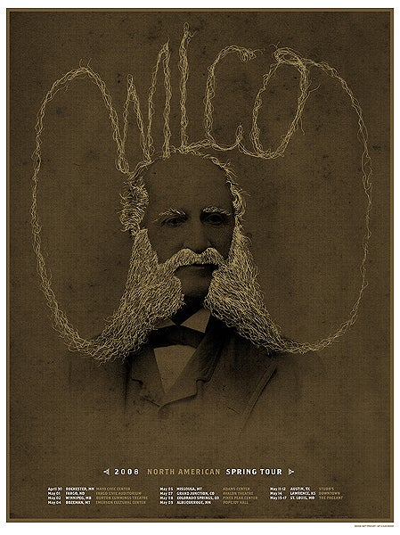 Image of Wilco tour poster 2008