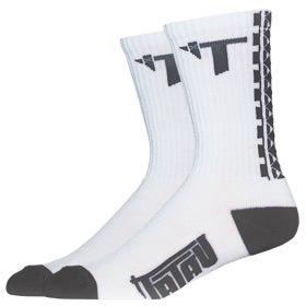Image of TS-01 White/Charoal Socks