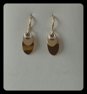 Image of double petal earring