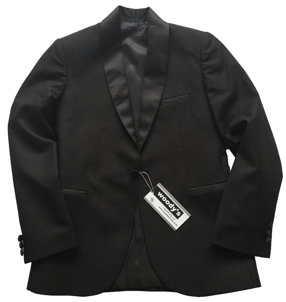 Image of Black Roll Collar Jacket