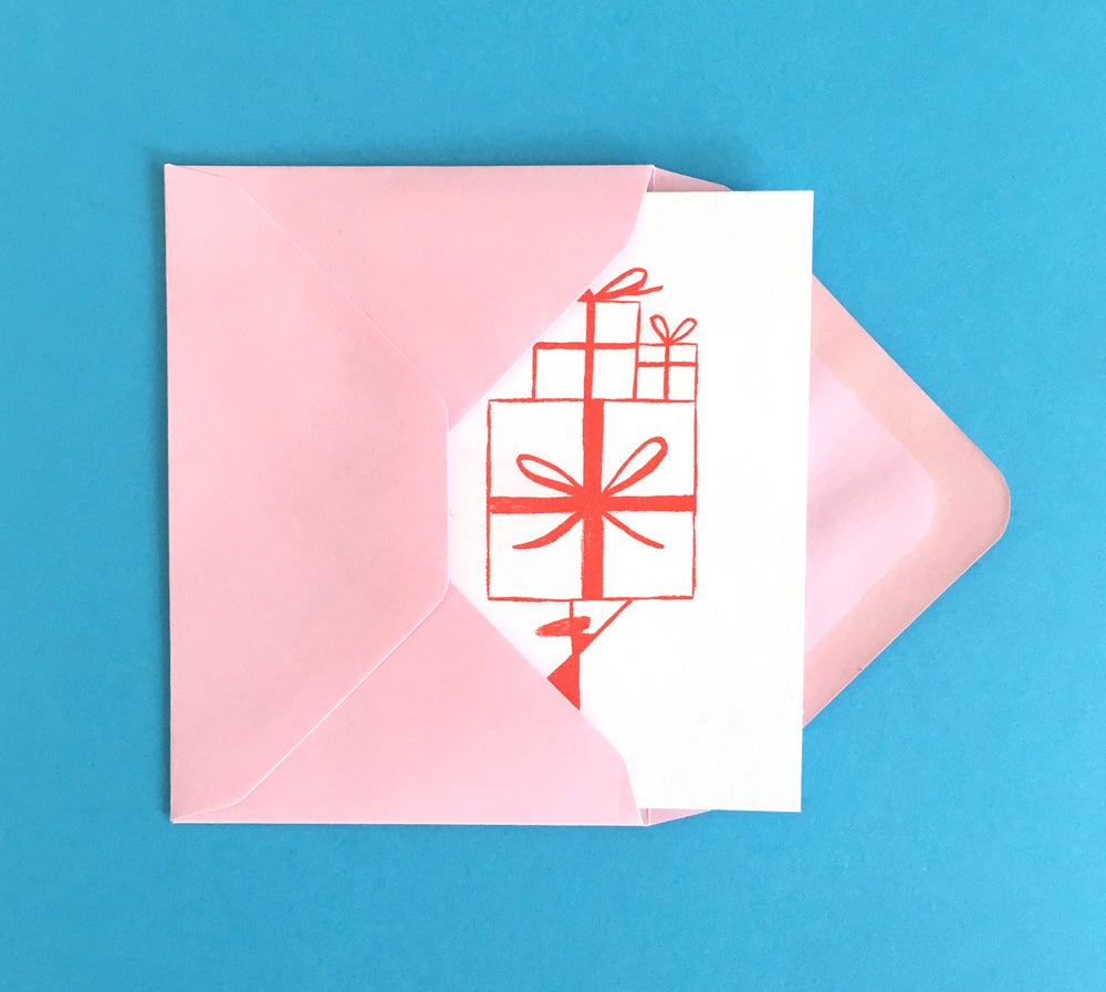 Image of PRESENTS greeting card set